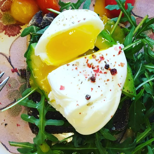Love a good pouched egg for breakfast breakfast foodie pouchedegghellip